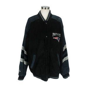 NFL New England Patriots GIII Suede Leather Jacket